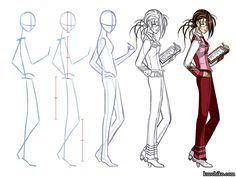 Tecniche disegno fumetti cerca con google tecniche di disegno how to draw anime boys full body how i draw basic structure ccuart Images