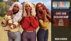 """Recolours #34 - #37""""- Base Game Compatible - Comes in WMS unnaturals, naturals and neutrals - 3 different files to choose from (per hair, so a total of 12!) - ADD-ONS """" YOU NEED THE MESHs by: •..."""
