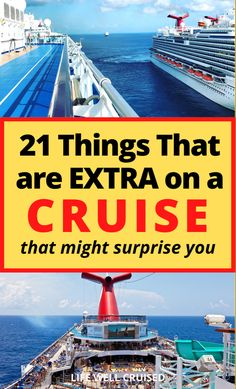 """Planning a cruise? One thing to be aware of is the cost of the actual cruise, and the """"hidden fees"""". While cruising is a very good value, it isnt all inclusive. Here are the things to know, that are extra costs on a cruise ship Cruise Ship Reviews, Best Cruise Ships, Cruise Port, Cruise Vacation, Cruise Packing Tips, Carnival Cruise Ships, Cruise Destinations, Cruise Outfits, Princess Cruises"""