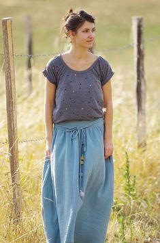 | 1001 PERLES [Femme] –  Le TUTO pour créer une jupe longue / Maxi skirt