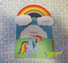 Mara Handmade : My Little Pony Invitaciones My Little Pony, My Little Pony Party, Party Invitations Kids, Ideas Para Fiestas, Unicorn Party, Ladybug, Birthday Cards, Joy, Carousel