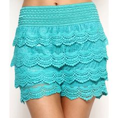 ‼️CLEARANCE‼️Boho Crochet Shorts ~ Aqua Mint ‼️CLEARANCE ITEMS BUY TWO GET ONE FREE‼️FREE ITEM IS LOWEST PRICED ITEM & MUST BE EQUAL OR LESSER VALUE‼️I MUST MAKE YOUR BUNDLE FOR THIS DEAL, 15% OFF STILL APPLIES‼️ Trendy sweetheart Scalloped Crochet Shorts Aqua color, also available in Black & Cream Wide, Super stretchy banded waistband  True size 8/10. (L), labeled sized 2X 100% cotton, tags attached  Price firm unless bundled Bundles are 15% off 2 or more Thanks for looking✌️ ❌NO PAYPAL❌NO…