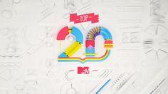 MTV/ MTV Top 20 on Behance 繽紛歡樂的立體結構