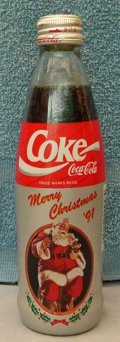 Coca Cola Bottle Japanese Christmas 1991 Shrink Wrapped