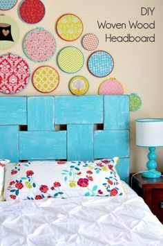 Check out this tutorial on how to make a #DIY woven wood headboard. Looks easy enough! #BedroomIdeas #HomeDecorIdeas @istandarddesign