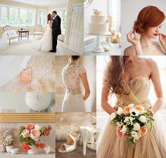 Blush Cream & Coral Wedding Inspiration Board | Elizabeth Anne Designs: - The Wedding Blog