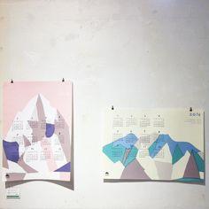 HIGASHI ALPS落合恵さんのカレンダー今年はタテ型のK2ヨコ型の南アルプスがあります  #落合恵 #南アルプス #K2 #芝生カレンダー展2016 #芝生通販 #芝生展示 #カレンダー #calendar2016 by shibafu_gallery