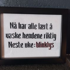 Linoprint, Cross Stitch Embroidery, Letter Board, Funny Pictures, Hilarious, Wisdom, Humor, Words, Fanny Pics