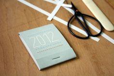 Calendar matchbox 2012 DIY