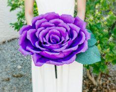 Flor de papel en el tallo  alternativa de PEONÍA gigante/de