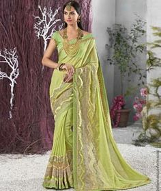 Buy Green Georgette Party Wear Saree 77717 with blouse online at lowest price from vast collection of sarees at Indianclothstore.com.