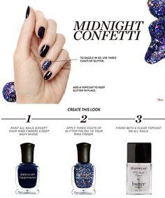 Midnight Confetti Mani DIY