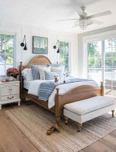Home Decoration Ideas For Party Fall home decor master bedroom lake house.Home Decoration Ideas For Party Fall home decor master bedroom lake house Fall Home Decor, Home Bedroom, Master Decor, Home Decor, House Beds, Lake House Bed, Lakehouse Bedroom, Modern Bedroom, Coastal Bedrooms