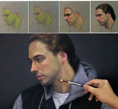 Pencil Portraits - Cuong Nguyen, pastel pencil drawing 2016 - Discover The Secrets Of Drawing Realistic Pencil Portraits.Let Me Show You How You Too Can Draw Realistic Pencil Portraits With My Truly Step-by-Step Guide. Crayons Pastel, Pastel Pencils, Watercolor Pencils, Colored Pencils, Pastel Drawing, Pastel Art, Painting & Drawing, Portrait Au Crayon, Portrait Art