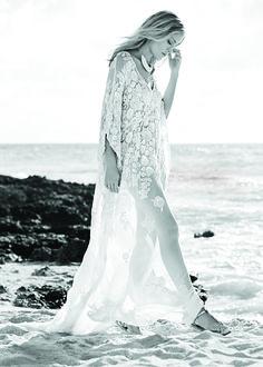 Beach Wedding Dress Caftan Cover Up photo by Noe DeWitt in Brides June/July 2015 #wedding #weddingdress #weddinginspiration