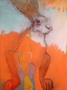 """Morning Hare"" oil on panel 24""x18"" $2100"