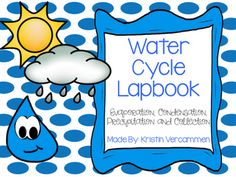 This lapbook will be a great addition to your water cycle science unit!  It helps support learning the different stages of the water cycle, the essential vocabulary, and the different types of precipitation.  Very easy to assemble!Lapbook includes the following:* Flipbook that includes the vocabulary evaporation, condensation, precipitation, and collection.  * Notepage to highlight that explains the water cycle* Drawing page for the different types of precipitation * Interactive water cycle…