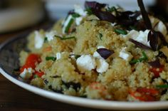 Summer quinoa with goat cheese.
