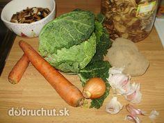 Fotorecept: Kelová polievka s klobásou a hubami