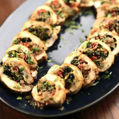 Spinach and Red Pepper-Stuffed Chicken By Valerie Bertinelli