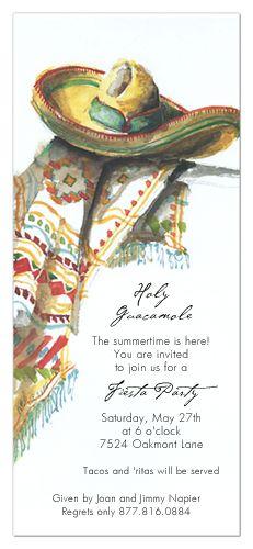 Sombrero Invitation