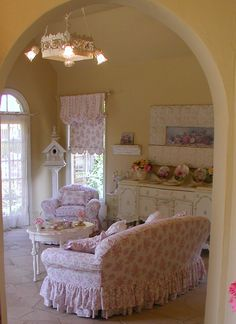 sweetly romantic living space