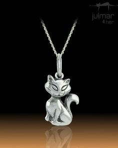 This timeless design cat shaped pendant is crafted from solid Sterling Silver. http://www.julmar.com.au/collections/pendant/products/enchanted-cat-sterling-silver-pendant