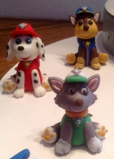 Paw Patrol Fondant Cake Topper Set by AfterHoursCakery on Etsy