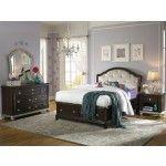 Samuel Lawrence - Girls Glam 6 Piece Full Bedroom Set in Dark Cherry - 8688-532-6Set