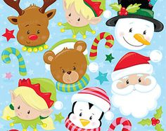 80% OFF SALE Christmas baby penguins clipart by Prettygrafikdesign