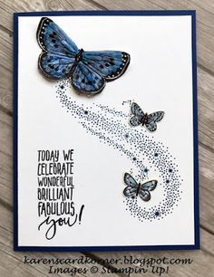 Stampin' Up! Butterfly Gala Birthday Card Stampin' Up! Funny Birthday Cards, Handmade Birthday Cards, Birthday Humorous, Birthday Sayings, Card Birthday, Sister Birthday, Birthday Images, Diy Birthday, Birthday Wishes