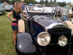 Gemma from Jesua Consultants at the George Old Car Show