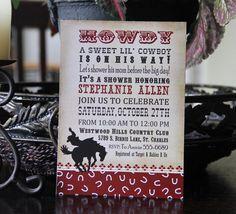 Printable Baby Shower Invitation Cowboy / by EThreeDesignStudio