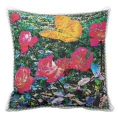 25% OFF SiteWide –Use CODE: ZAZZSITEDEAL 'til MidniteTonite 4-30-17. Based on a digital photo our Roses are rendered with special filters and treatments to transform them into an imaginary garden space. This throw pillow is ideal for your environmentally sensitive decor. Relaxing with one of these pillows will soothe your tired body and put your spirit at ease.  Over 3000 products at my Zazzle online store. Open 24/7 World wide! http://www.zazzle.com/greg_lloyd_arts*?rf=238198296477835081
