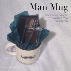 Man Mug *any men's cologne. Prices vary starting at $29+ www.marykay.com/jpatrick2027 call or text 562-688-1977 message me on FB www.facebook.com/jenlpmarykay                                                                                                                                                                                 More