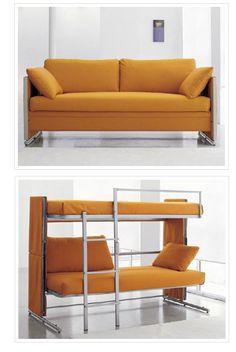 This is soooo cool!! The transformer bunk bed sleeper sofa