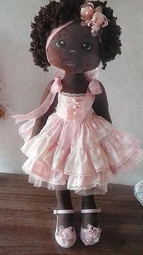 voceartesanal   Beleza Negra - Boneca de Luxo