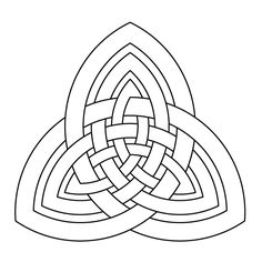 Celtic knot-work tritrinity by Peter Mulkers