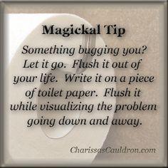 Magickal Tip - Flush Your Problems Away – Charissa's Cauldron