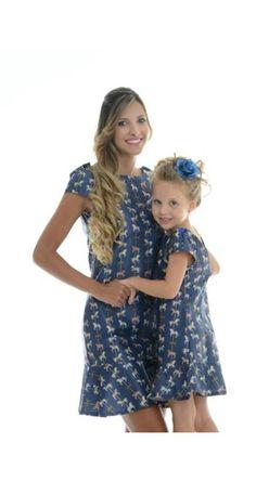 Vestido Carrossel Azul Adulto