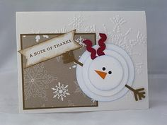 Did You Stamp Today?: Snowman Thank You