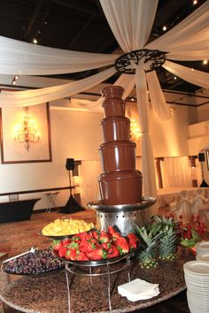 yes, We're going to have a chocolate fountain. Won't you be glad to be invited to our wedding. ;)