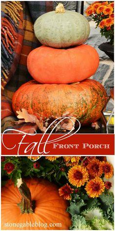 Decorate a beautiful fall porch