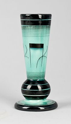 Rörstrand Art Deco Vase - Design by IIse Claeson (Swedish, 1907-1999) - (Rörstrand founded 1726, Stockholm, Sweden)