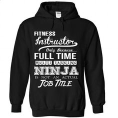 Fitness Instructor Perfect Xmas Gift - #green hoodie #funny t shirts for women. PURCHASE NOW => https://www.sunfrog.com//Fitness-Instructor-Perfect-Xmas-Gift-5553-Black-Hoodie.html?60505