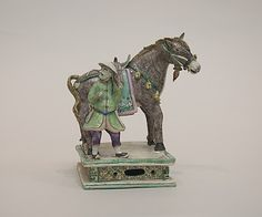 Figure of a Horse and Attendent, Qing dynasty (1644–1911), Qianlong period (1736–95). China. The Metropolitan Museum of Art, New York. Bequest of Benjamin Altman, 1913 (14.40.202) #horses