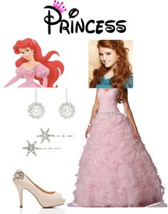 """princess ariel"" by tashaleigh99 ❤ liked on Polyvore"