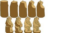 Free Whittling Patterns   google step by step bear carving, its a big help