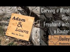 Carving a Wooden Sign is easier than you'd think.  All you need is a router and a printer | Dailey Woodworks