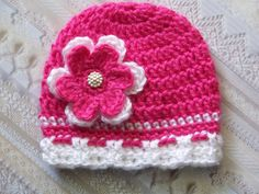 Baby Crochet Hat Newborn Crochet Hat Newborn by crochethatsbyjoyce